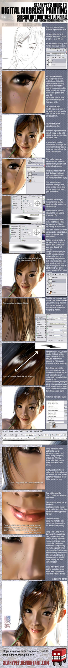 Tutorial - Digital AIrbrushing by scarypet