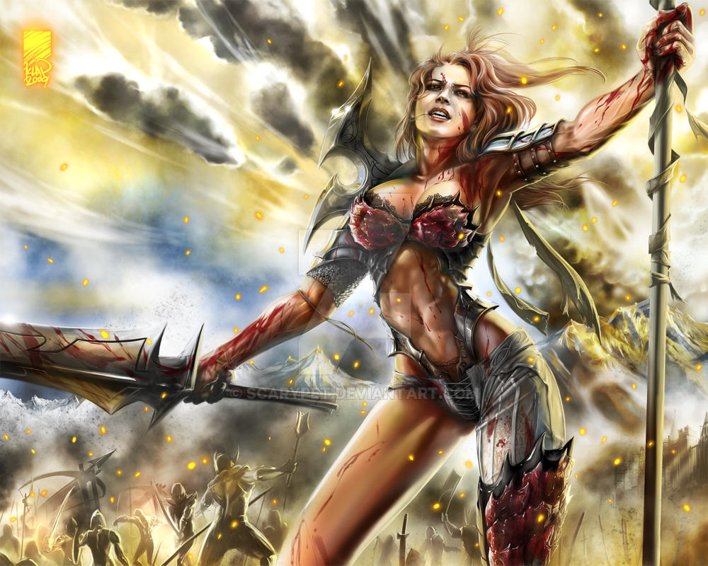Red Sonja, at War by scarypet