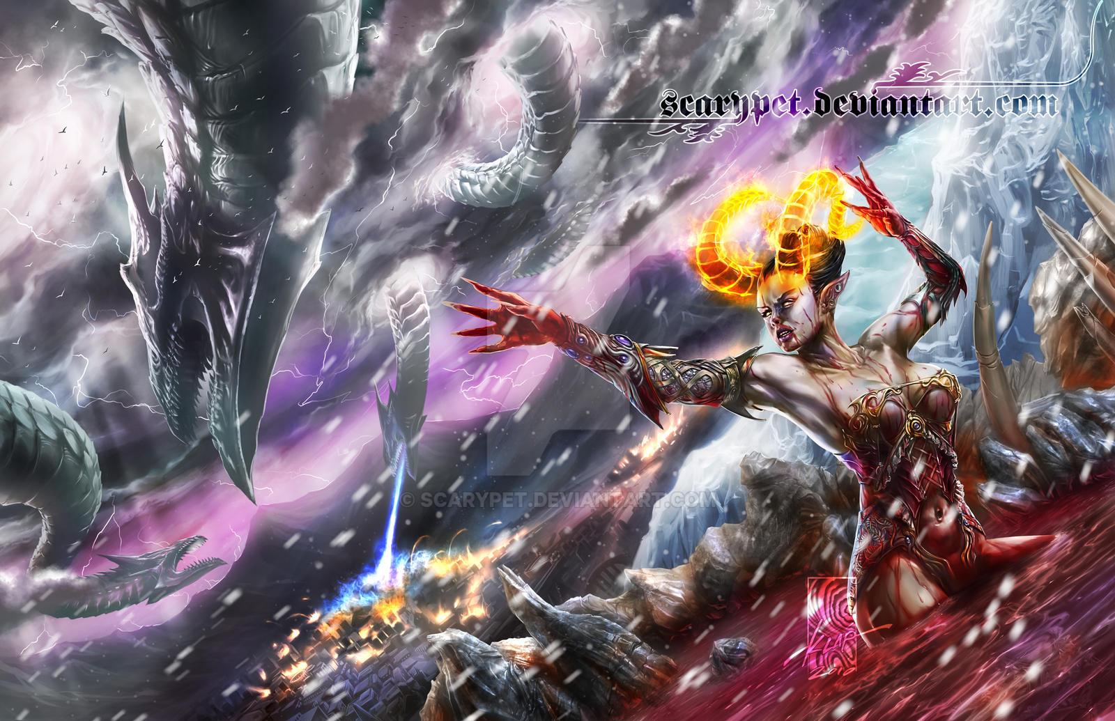 Bathory, Blood Summoner by scarypet
