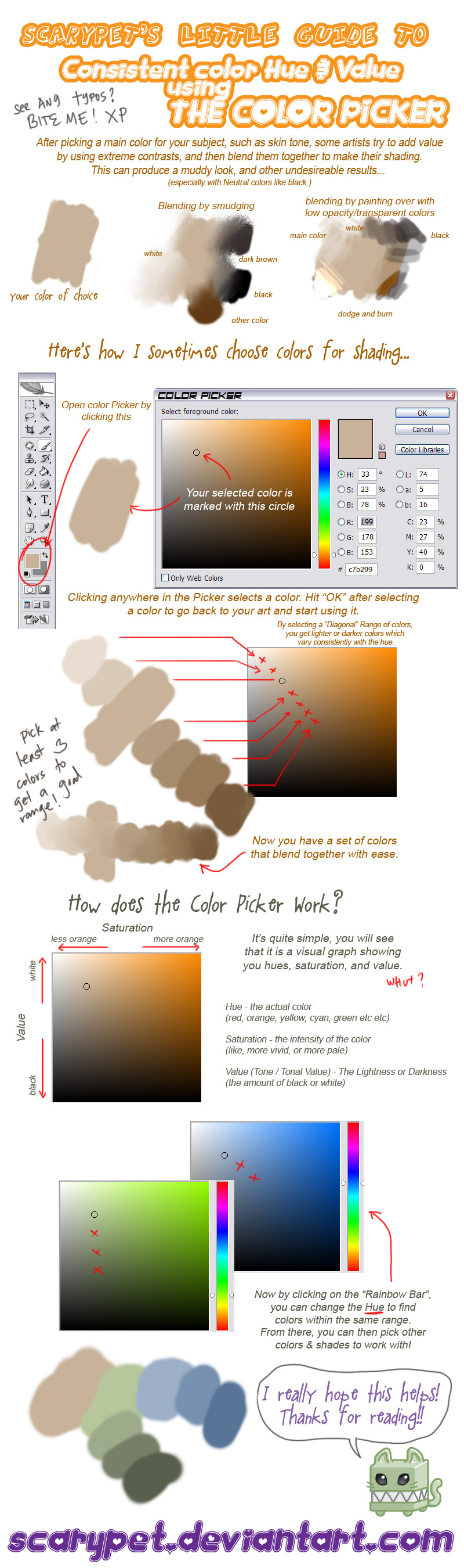 Tutorial - Picking Colors PS by scarypet