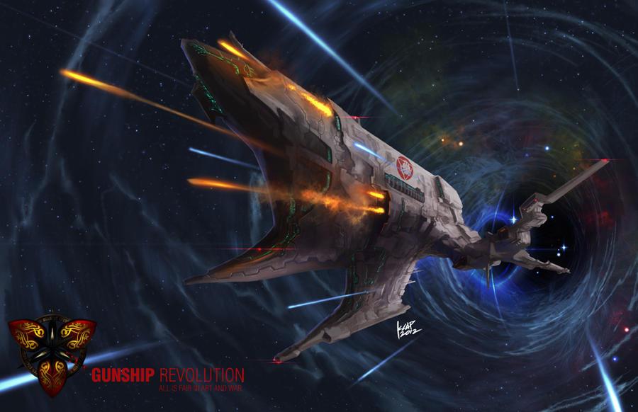 Frigate Class Gunship: Rakshasa by scarypet