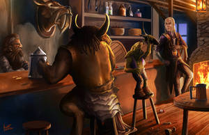 Your typical tavern by scarypet