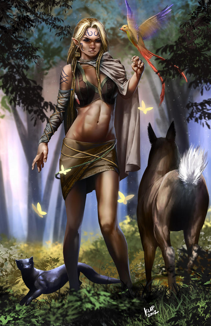 Elven Druid by scarypet