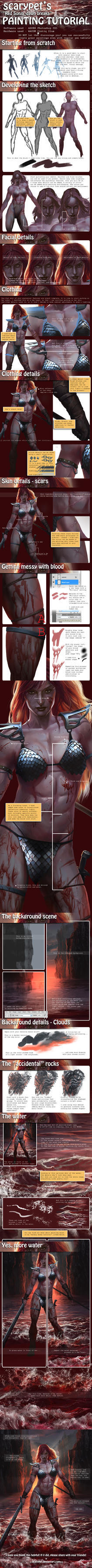 Scarypet's 'Red Sonja' Painting Tutorial by scarypet