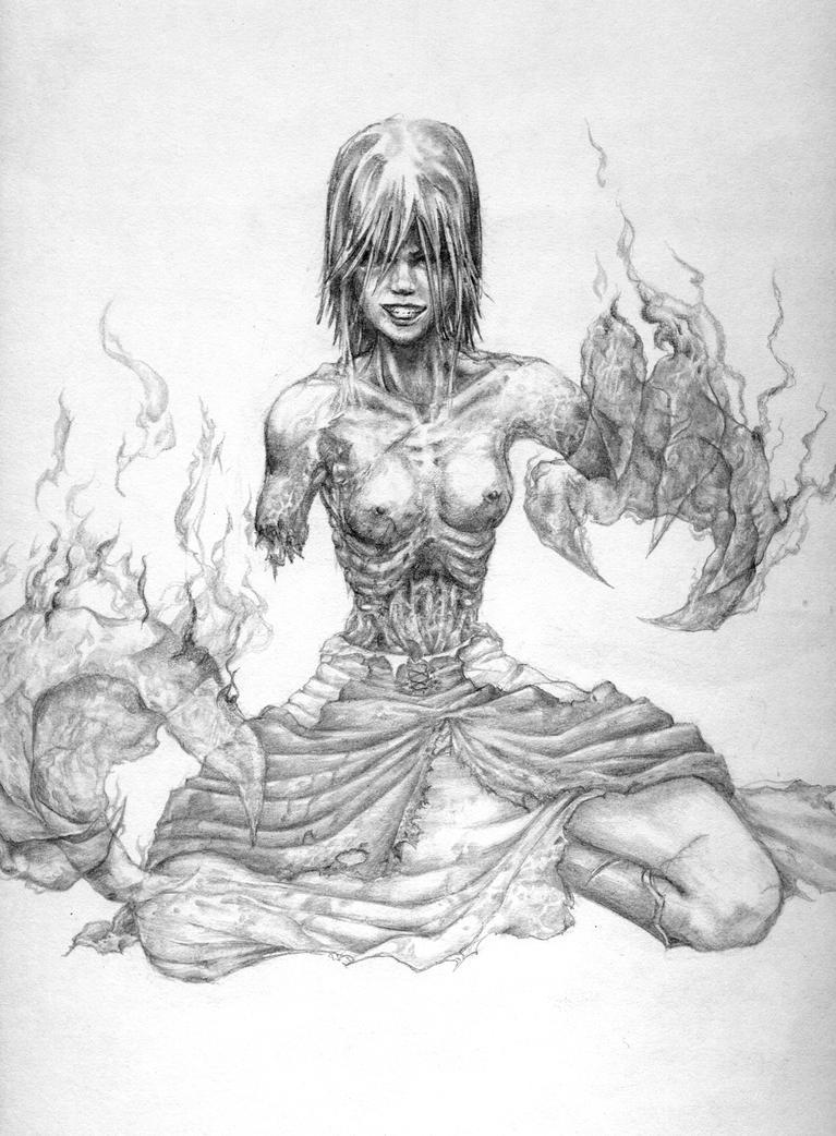 ex-angel,half-human,now-demon by scarypet