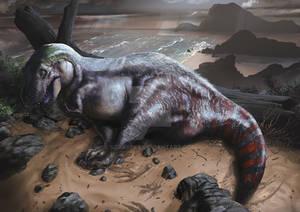 Fat T-Rex falling asleep