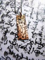 Giraffe Scribble Pendant by PinkPixieDragon