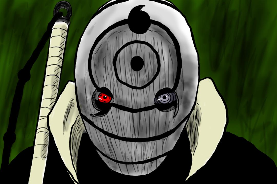 Tobi White Mask Drawing by me : Naruto