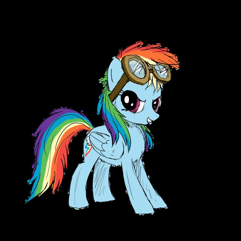 Rainbow Dash - Goggles by SlopMonster