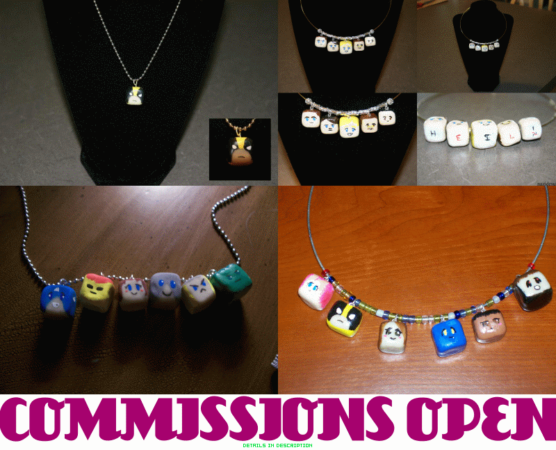 NECKLACE COMMISSIONS OPEN. by MewVaVa
