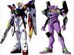 Wing Gundam Zero vs Evangelion Unit-01