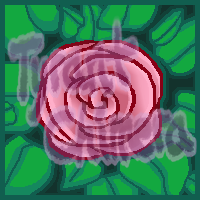 Pink rose icon by TyrantChimera