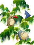 Totoro Neighbors by Calmality