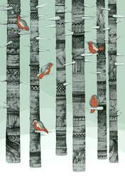 January Birds by Calmality