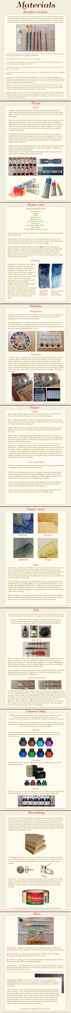Watercolor Materials Tutorial by Calmality