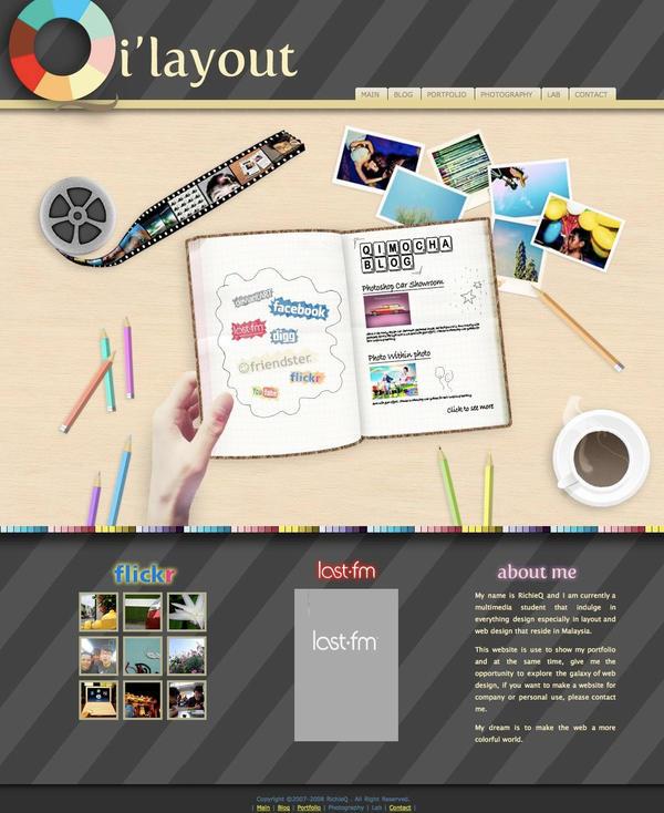 Qilayout Frontpage by kawaiwawi