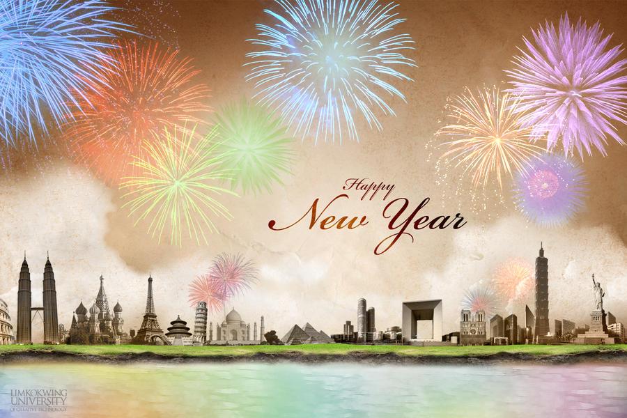 Worldwide New Year Celebration by kawaiwawi