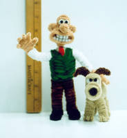 Pipe Cleaner Wallace n Grommet by fuzzymutt