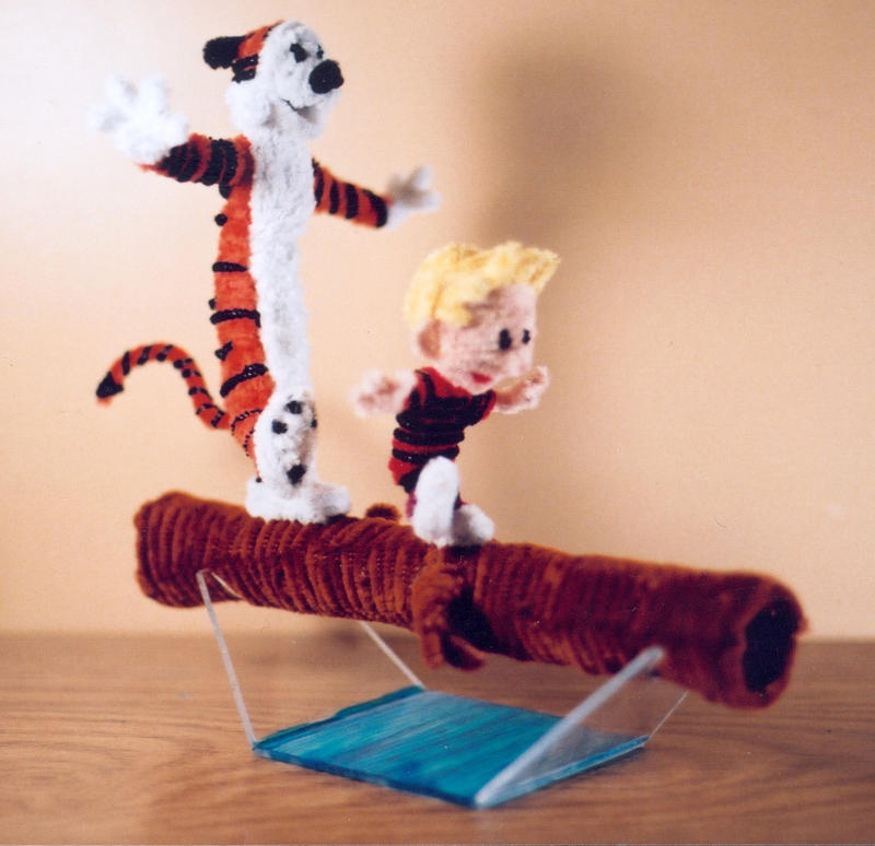 Pipe Cleaner Calvin and Hobbes