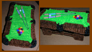Pipe Cleaner Pool-Table by fuzzymutt