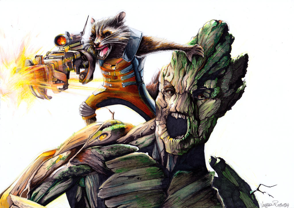 Rocket and Groot the perfect duet