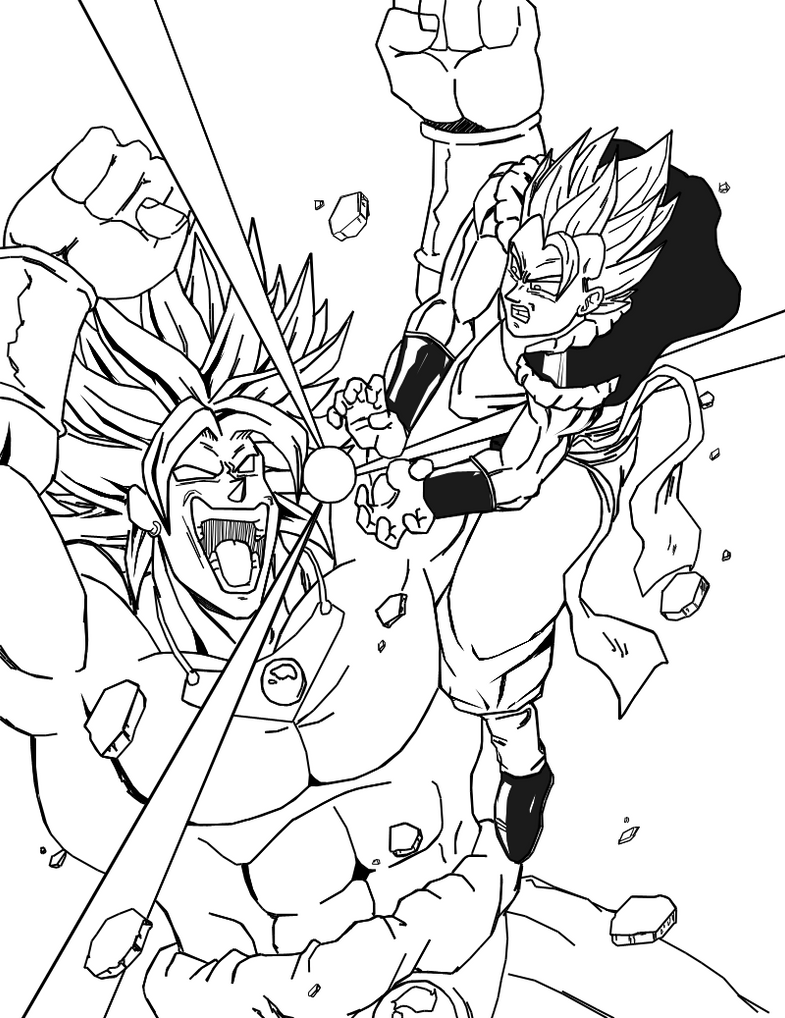 dbuc gogeta vs broly by darkhawk5 on deviantart