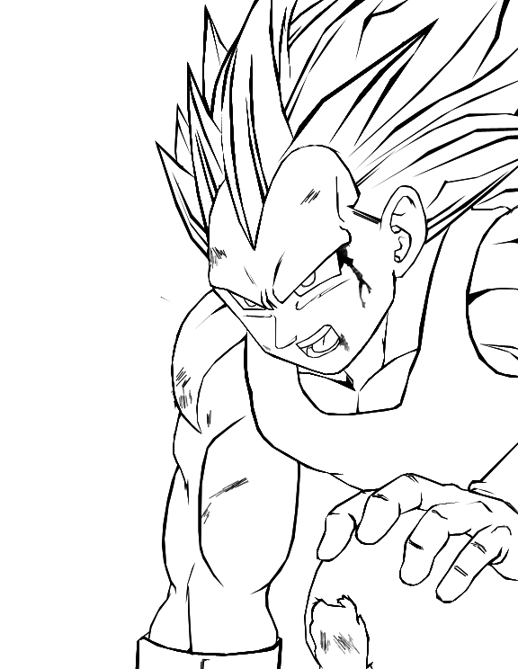 Ss3 goku coloring pages