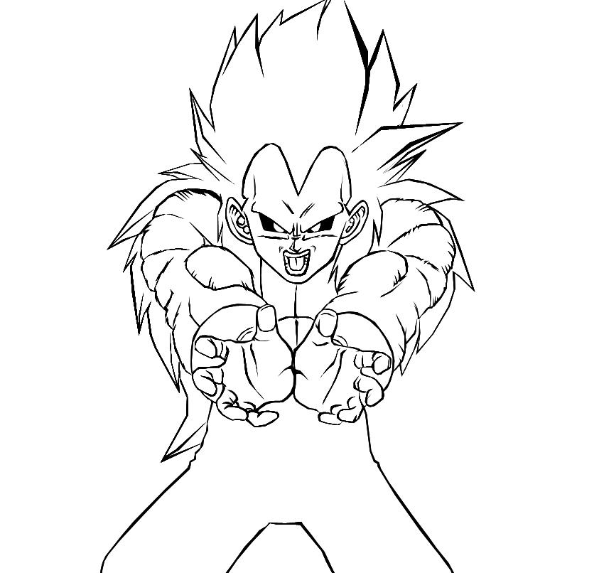 Resultados de b  250 squeda para dibujos de Goku ssj 5 para colorear Vegeta Color Drawing