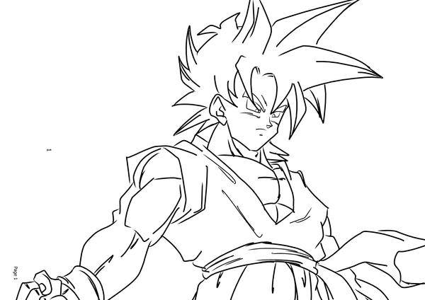 gotenks coloring pages - photo#46