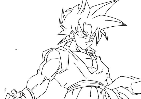 goten coloring pages - photo#19