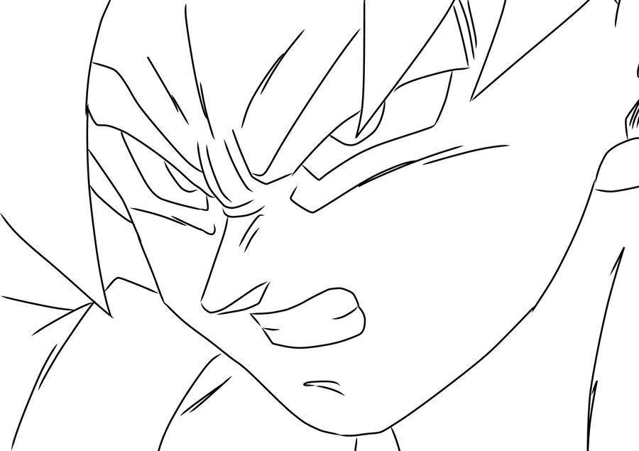 Goku Game Face By Darkhawk5 On Deviantart