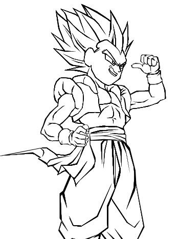 gotenks coloring pages - photo#17