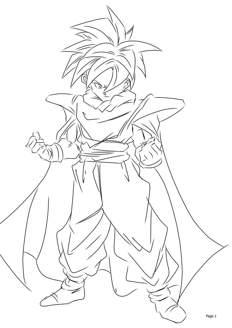 Teen gohan coloring pages the image kid for Dragon ball z cell coloring pages