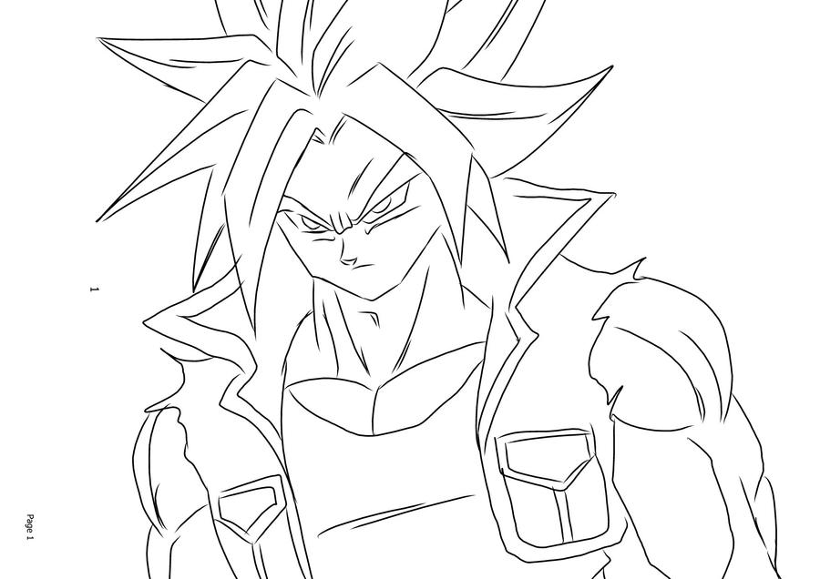 Ssj4 Gogeta Coloring Pages: Dbz Gotenks Ss4 Coloring Pages Coloring Pages