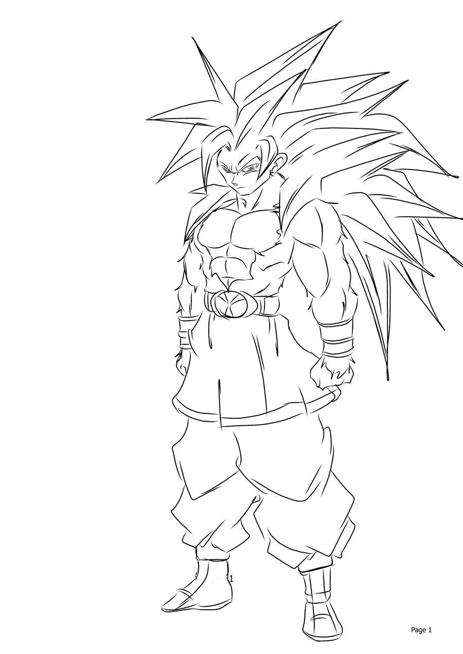 AF: Super Saiyan 5 Goku by darkhawk5