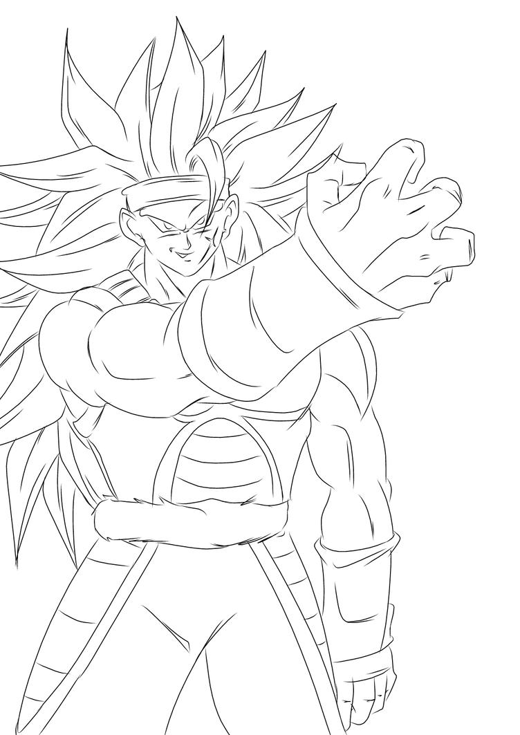 goku ssj3 coloring pages - bardock super sayain 10 free colouring pages
