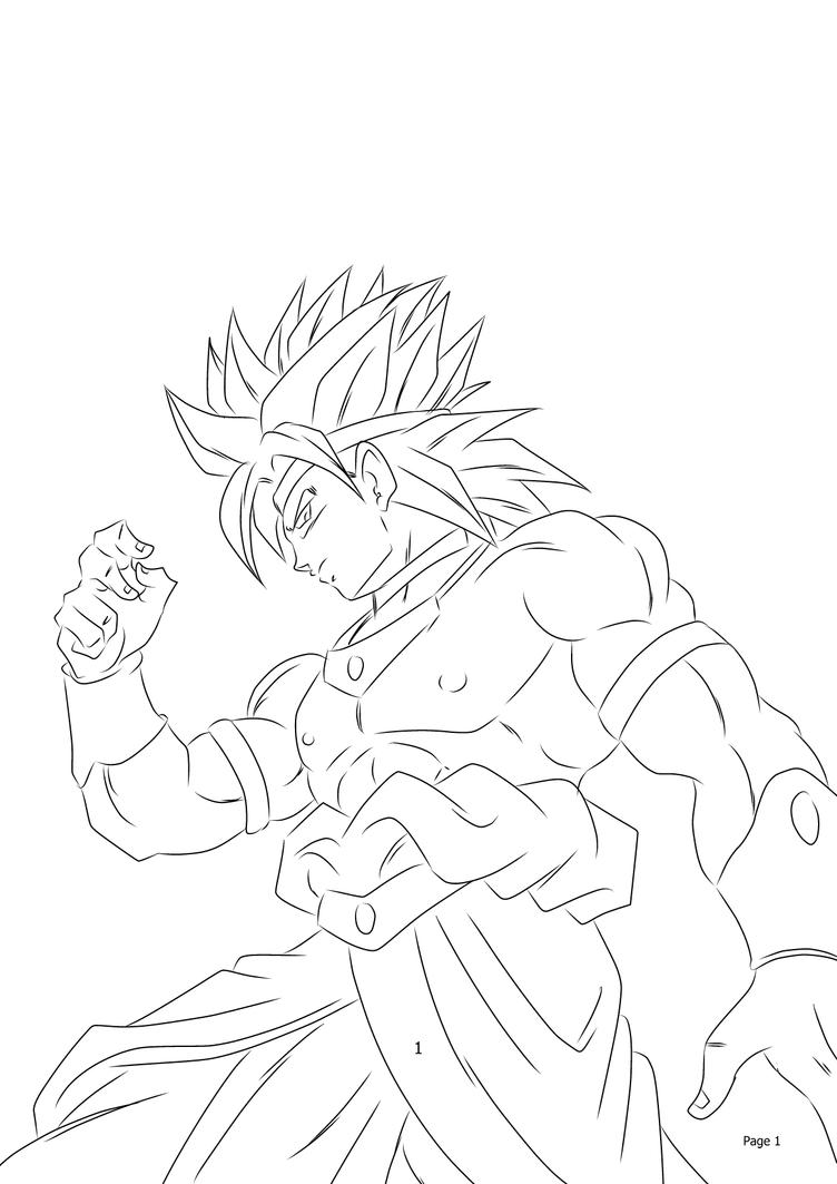 Broly Ssj Free Coloring Pages