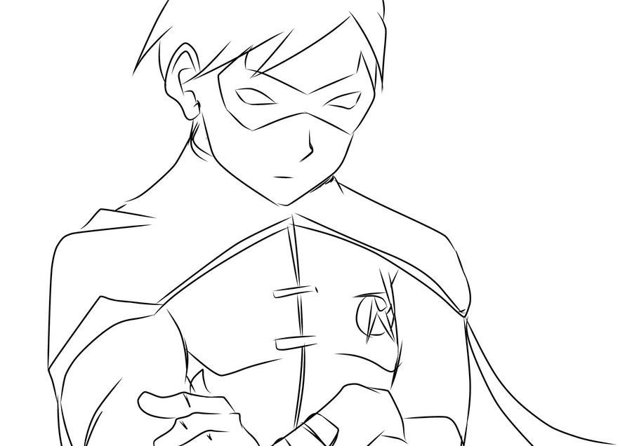 Young Justice Printable Best Of Coloring Pages: Young Justice Robin Coloring Pages