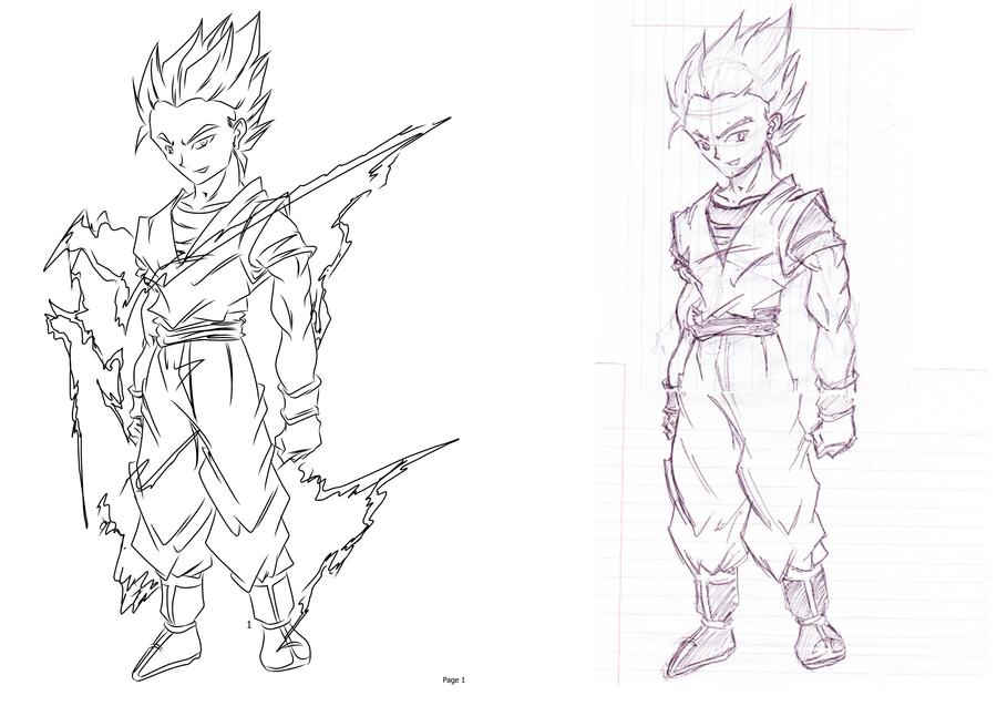 Gohan Sketch by darkhawk5