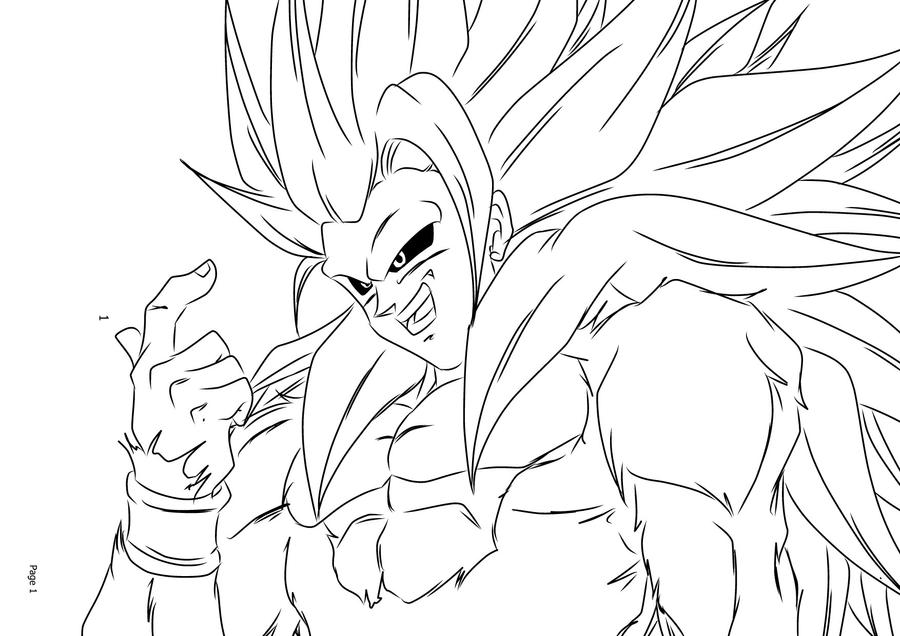 goku super saiyan 5 coloring pages super saiyan 5 goku by darkhawk5 on deviantart