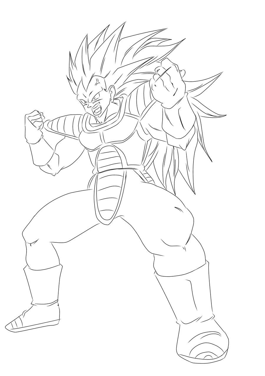 Vegeta Super Saiyan 3 Coloring Pages Coloring Pages