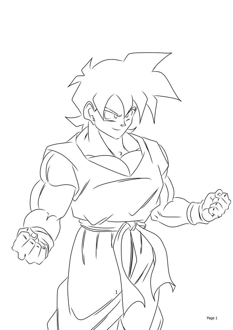 goten coloring pages - photo#17