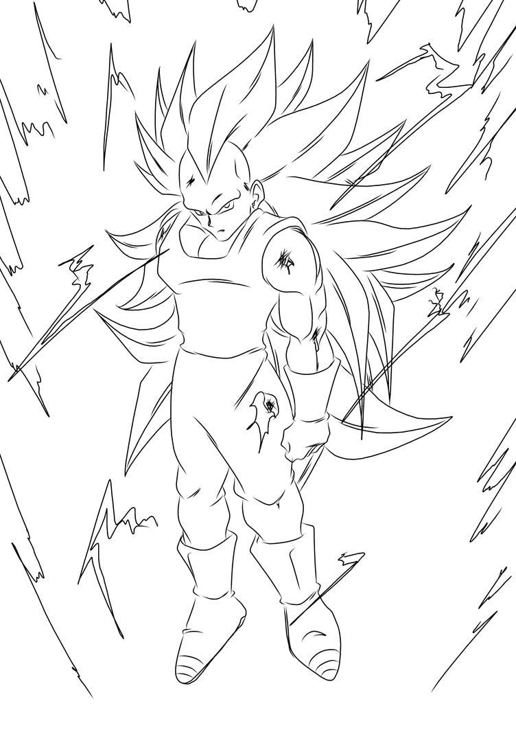 Super Saiyan 3 Vegeta by darkhawk5
