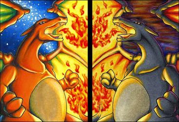 Dragon Twins - Starlight and Twilight by Malvareth