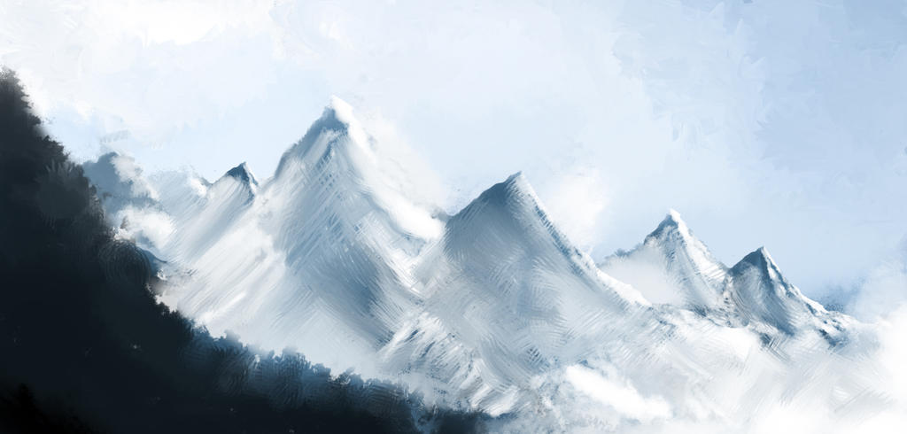 Mountains (Speedpaint) by Xboxpsycho