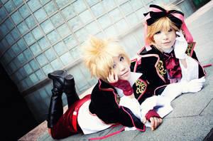 the twins of vocaloid by xxxkurohoshi