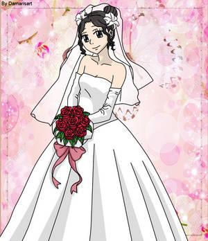 Osomatsu-san OC - Chiyoko wearing dress wedding