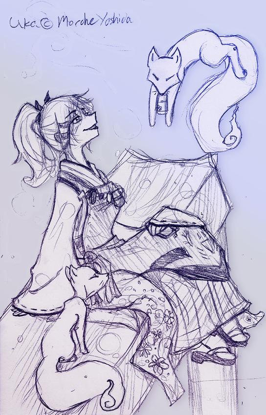 Uka-no-Mitama-no-Kami by SilverSugar