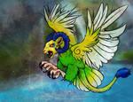 (OPEN - SALE) OOAK Adoptable: Bird Beast by SilverSugar