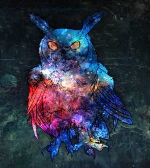 Giftart: Galaxy Owl